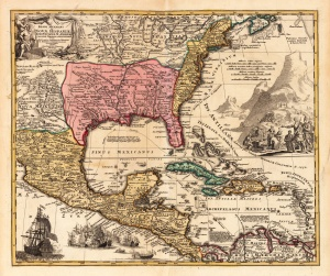 Map of New Mexico Louisiana, Florida_South Image